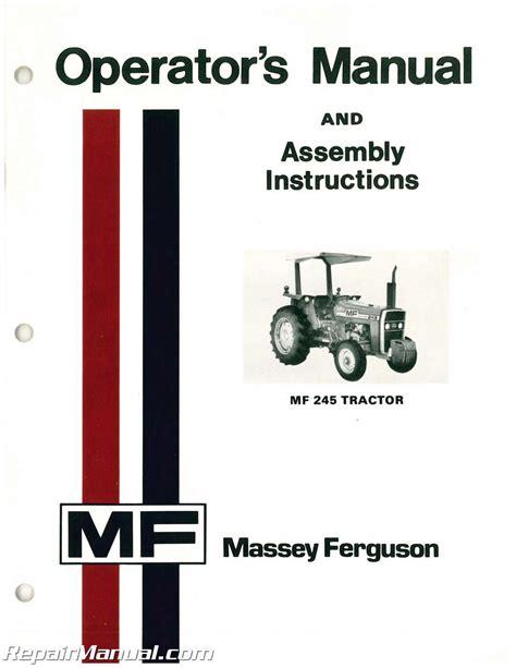Massey Ferguson Operators Manual Manuals