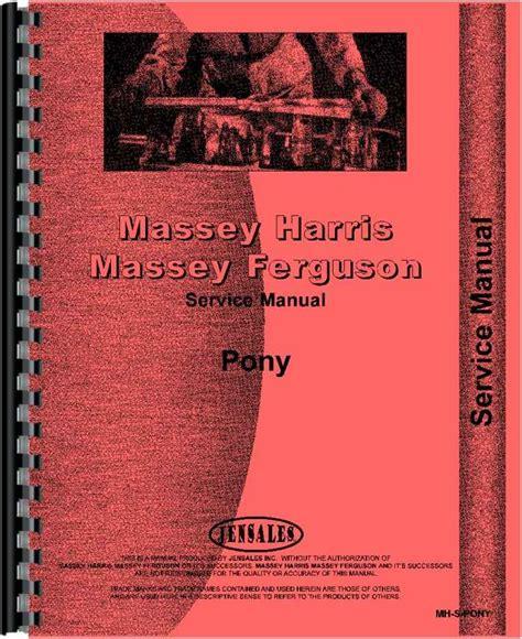 Massey Furguson Pony Tractor Factory Parts Manual Js Mh P Pony