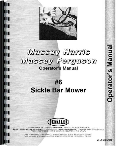 Massey Harris 6 Sickle Bar Mower Parts Manual