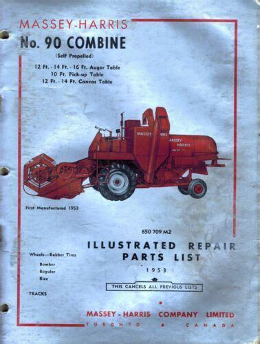 Massey Harris 90 Sp Combine Parts Manual 650709m