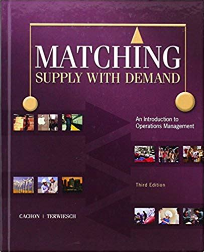 Matching Supply With Demand Cachon Solutions Manual