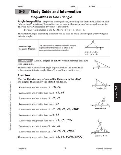 Math Answers For Study Guide And Intervention