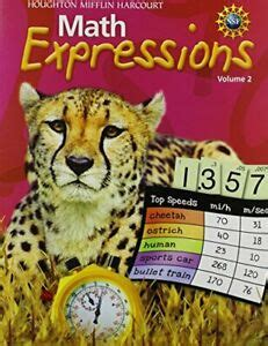 Math Expression, Grade 1 Student Activity Book: Houghton Mifflin Harcourt Math Expression Spanish: 2 (Math Expressions 2009-2012)