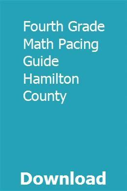 Math Pacing Guide For Hamilton County