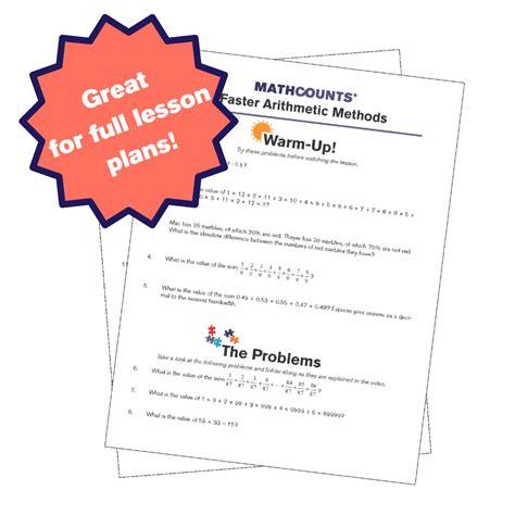 Mathcounts Club Resource Guide Problem Set