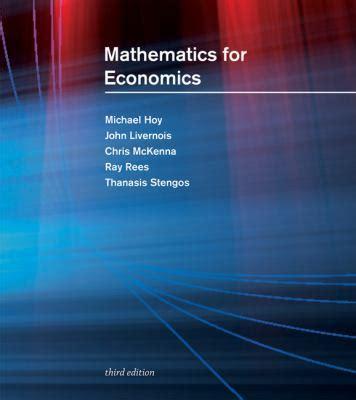 Mathematics For Economics Solutions Manual