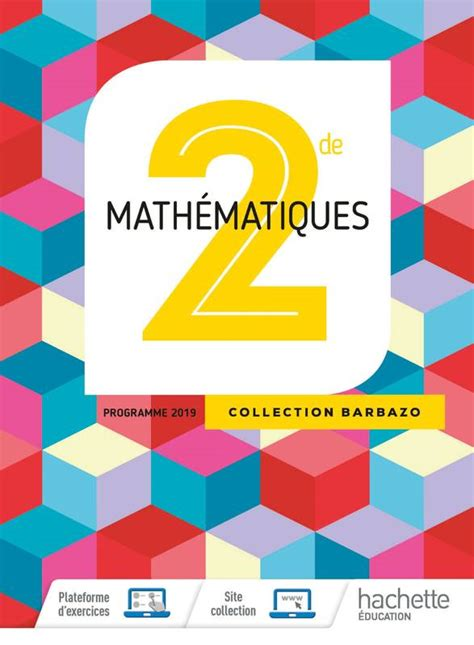 Mathematiques Barbazo 2nde Livre Eleve Ed 2019