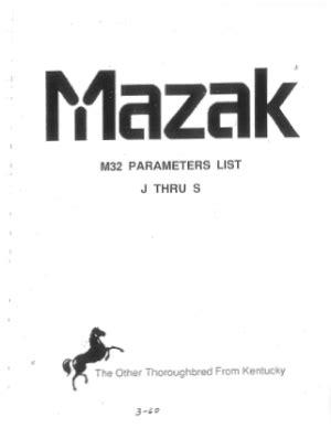 Mazak Laser User Manual