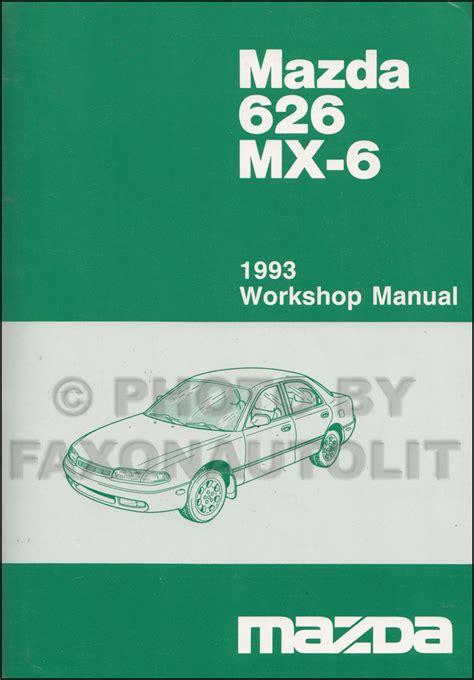 Mazda 626 Mx 6 1990 1992 Service Repair Manual