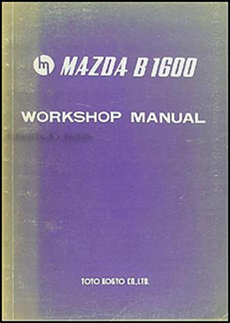 Mazda B1600 Repair Manual