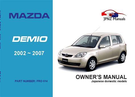 Mazda Demio Manual English