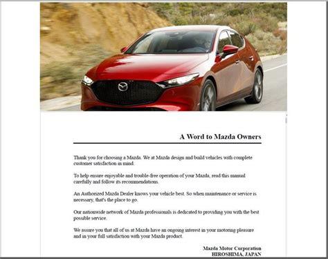 Mazda Owner Manual Hatchback
