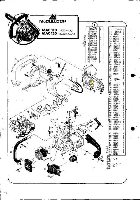 Mcculloch 110 Chainsaw Repair Manual