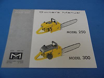 Mcculloch Chainsaw 300s Manual