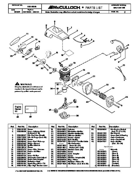Mcculloch Mac 338 Chainsaw Service Manual