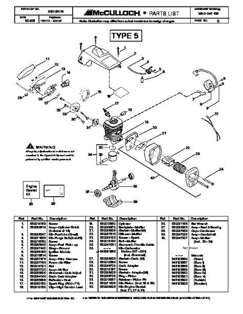 Mcculloch Mac 436 Chainsaw Manual