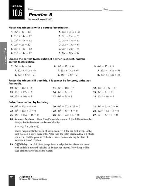 Mcdougal Littell Math Algebra 1 Answers