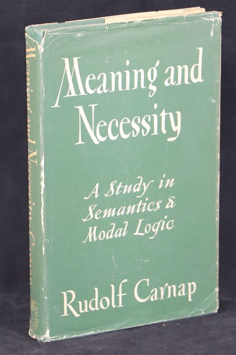 Meaning And Necessity A Study In Semantics And Modal Logic English Edition