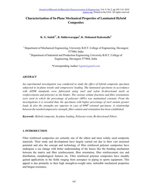 Mechanical Characterization of Hybrid Laminated Composites