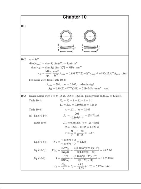 Mechanical Engineering Design Solutions Manual 8th