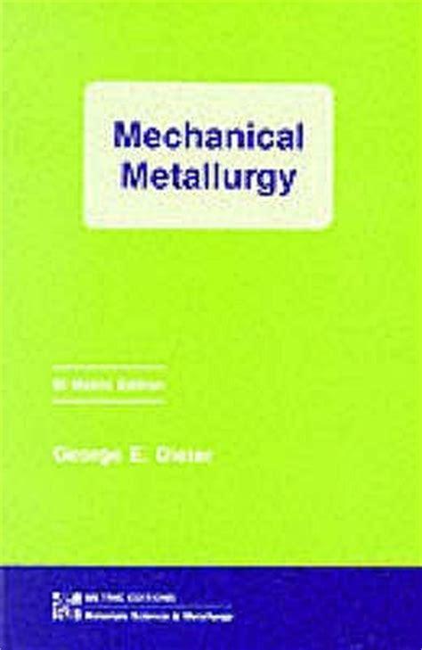 Mechanical Metallurgy Dieter Manual Problem