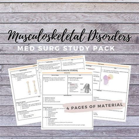 Med Surg Study Guide Musculoskeletal