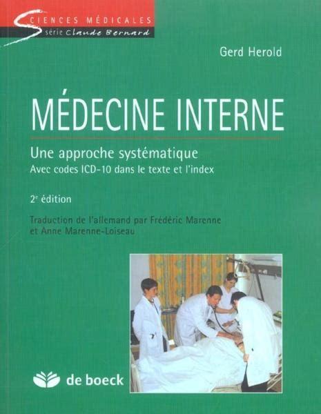 Medecine Interne Une Approche Systematique