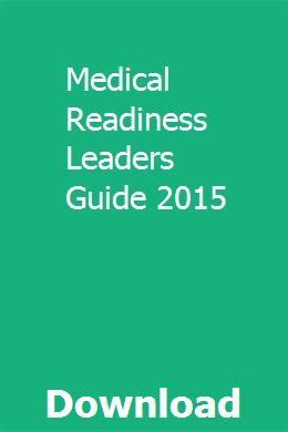 Medical Readiness Leaders Guide 2015