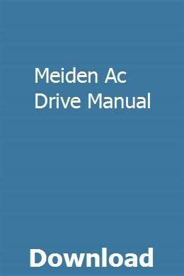 Meiden Ac Drive Manual