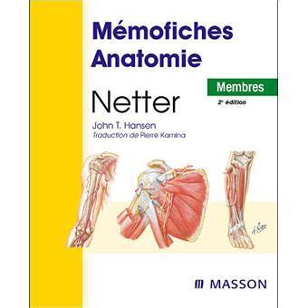 Memofiches Anatomie Netter Membres