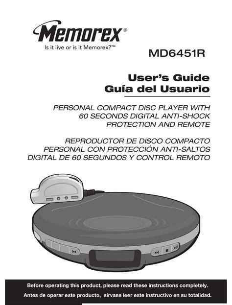 Memorex Md6451blk Cd Player Manual
