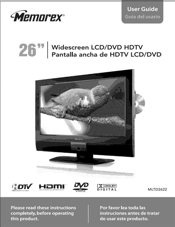 Memorex Tv Owners Manual