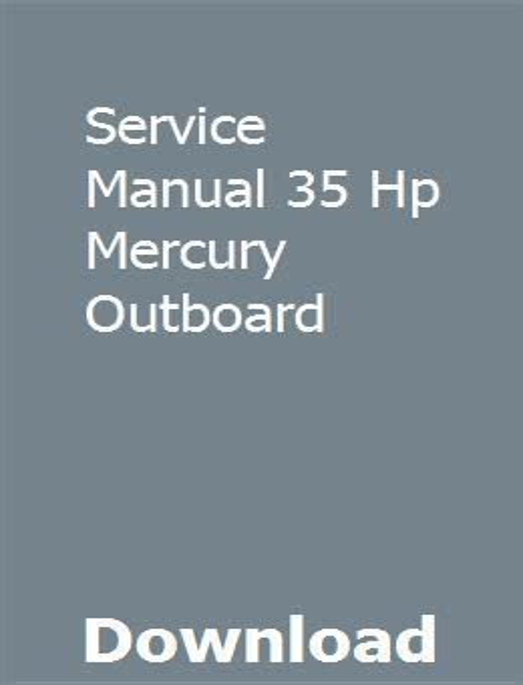 Mercury 36 Hp Outboard Manual