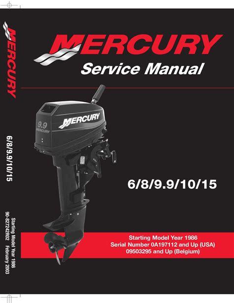 Mercury 6hp 2 Stroke Service Manual