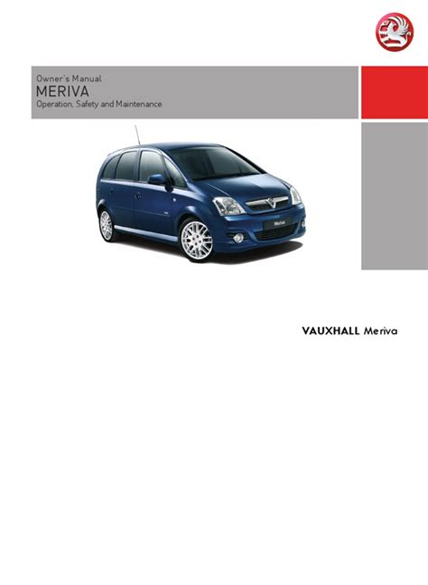 Meriva Owners Manual