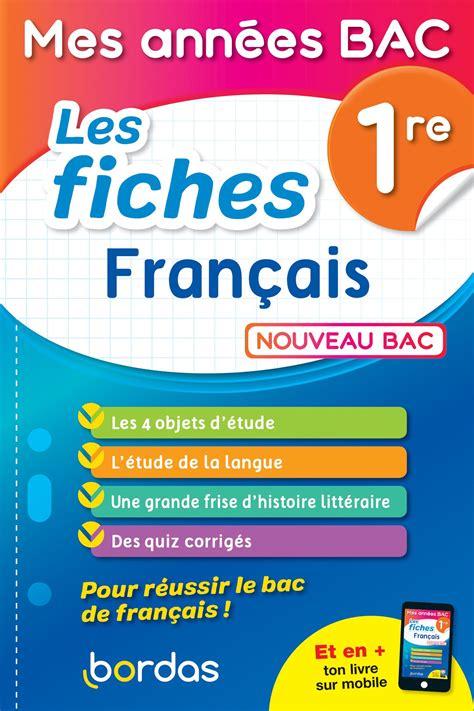 Mes Annees Bac Francais 1re