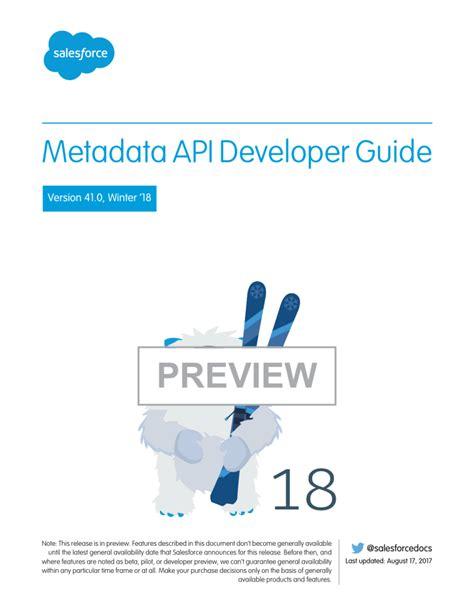 Metadata Api Developer Guide