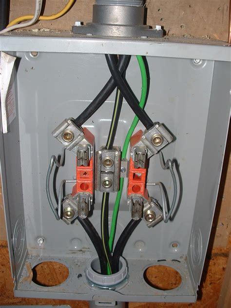 Meter Base Wiring To Breaker Box