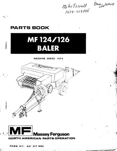 Mf 124 Baler Manual