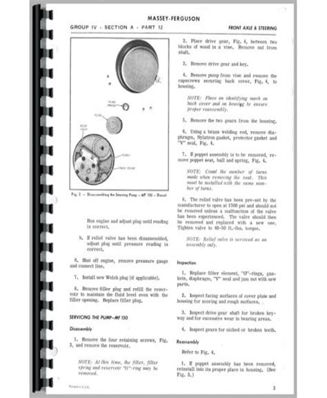 Mf 165 Tractor Service Manual