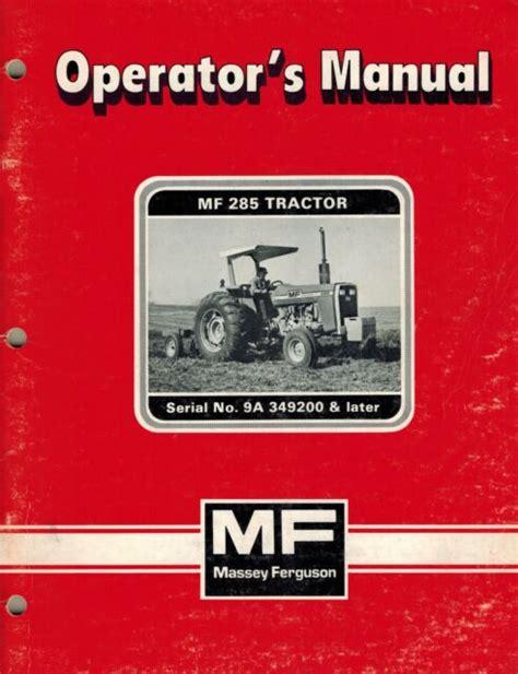Mf 285 Tractor Manual