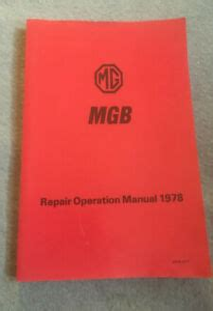 Mgb Repair Operation Manual 1978