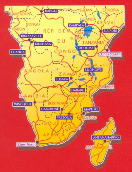 Michelin Africa Central, South, and Madagascar Map by Michelin Travel Publications (2003-01-02)