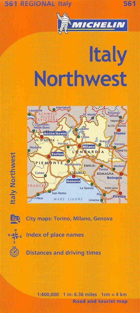 Michelin Italy Northwest Map 561 Maps Regional Michelin