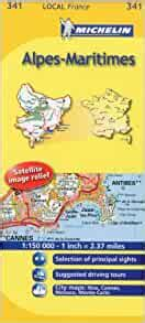 Michelin Map France: Alpes-Maritimes 341 (Maps/Local (Michelin)) (English and French Edition) by Michelin (2011-01-16)