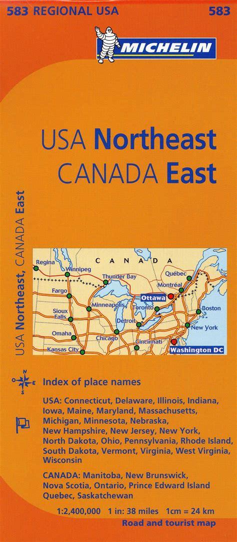 Michelin USA Northeast, Canada East (Michelin Maps)