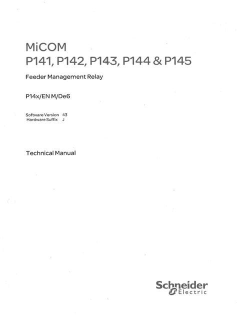 Micom Relay Manual