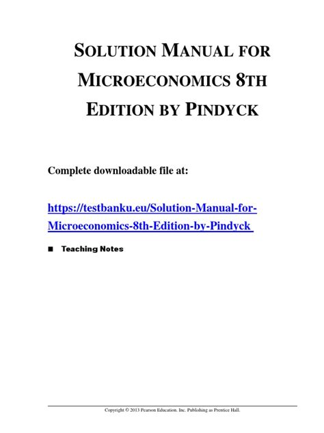 Microeconomics 8th Edition Pindyck Solutions Manual Ch4