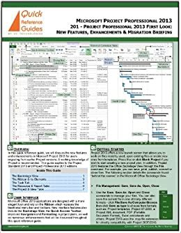 Microsoft Project 2013 Reference Guide