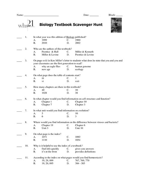 Miller And Levine Biology Study Guide Answers